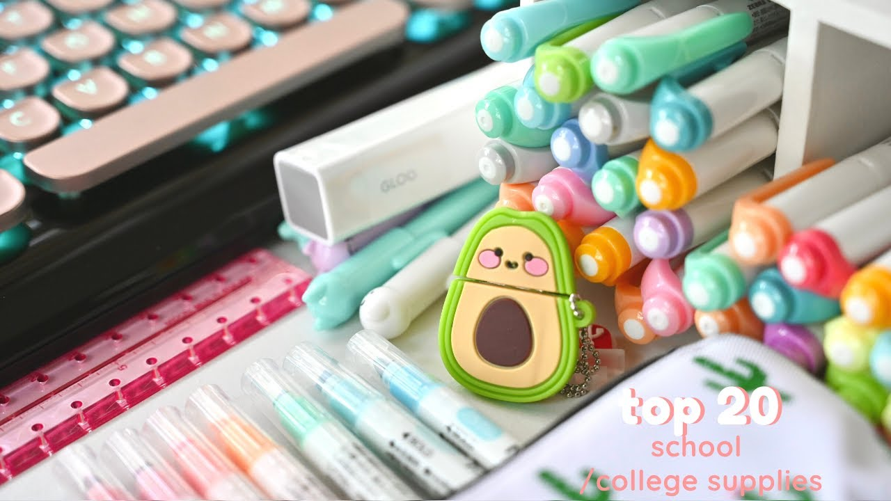 Top 20 school supplies you didn't know you needed ✨🥑
