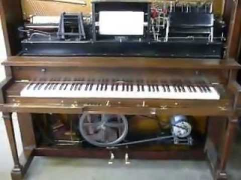 1926 Player Piano Playing 12th Street Rag