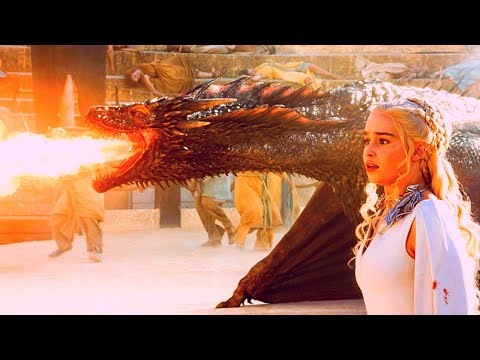 All DRAGON Scenes In Game Of Thrones (S01-S08), Movie Compilation - HD 1080p