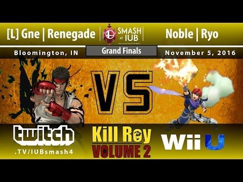 Kill Roy: Volume 2 - Sm4sh Singles - Grand Finals - Noble   Ryo (Roy) vs. [L] Gne Renegade (Ryu)