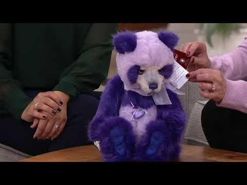 Charlie Bears Collectible Parma Violet Panda Bear On QVC