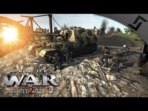 6v6 Railroad Defense w/ Elefant - Robz Mod - Men of War: Assault Squad 2 Multiplayer Gameplay