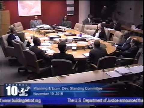Detroit City Council Tiger Stadium land transfer hearing