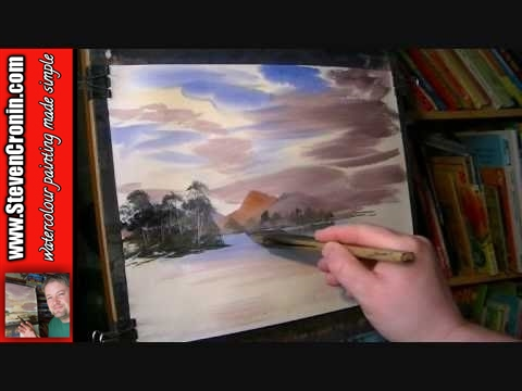Cul Mor towards Suilven, Scotland Part 1 of 2 Watercolor Landscape Painting Lesson