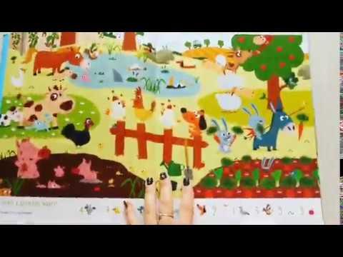 Забавные животные. Найди и покажи. Учим счет, животных, цвета и новые слова. 1-4 года