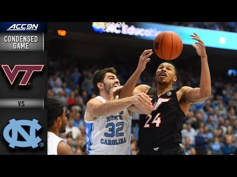 Virginia Tech vs. North Carolina Condensed Game | 2018-19 ACC Basketball