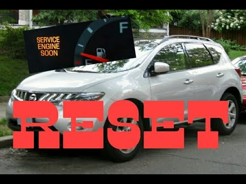 How To Reset Service Engine Soon Light On A 2009 Nissan Murano.