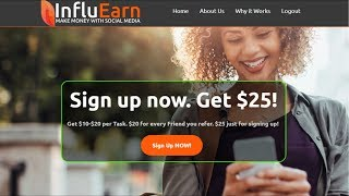 Sign up today for a $25 bonus! link: http://bit.ly/influearn ------------------------------------------------------------------------------- make money onlin...