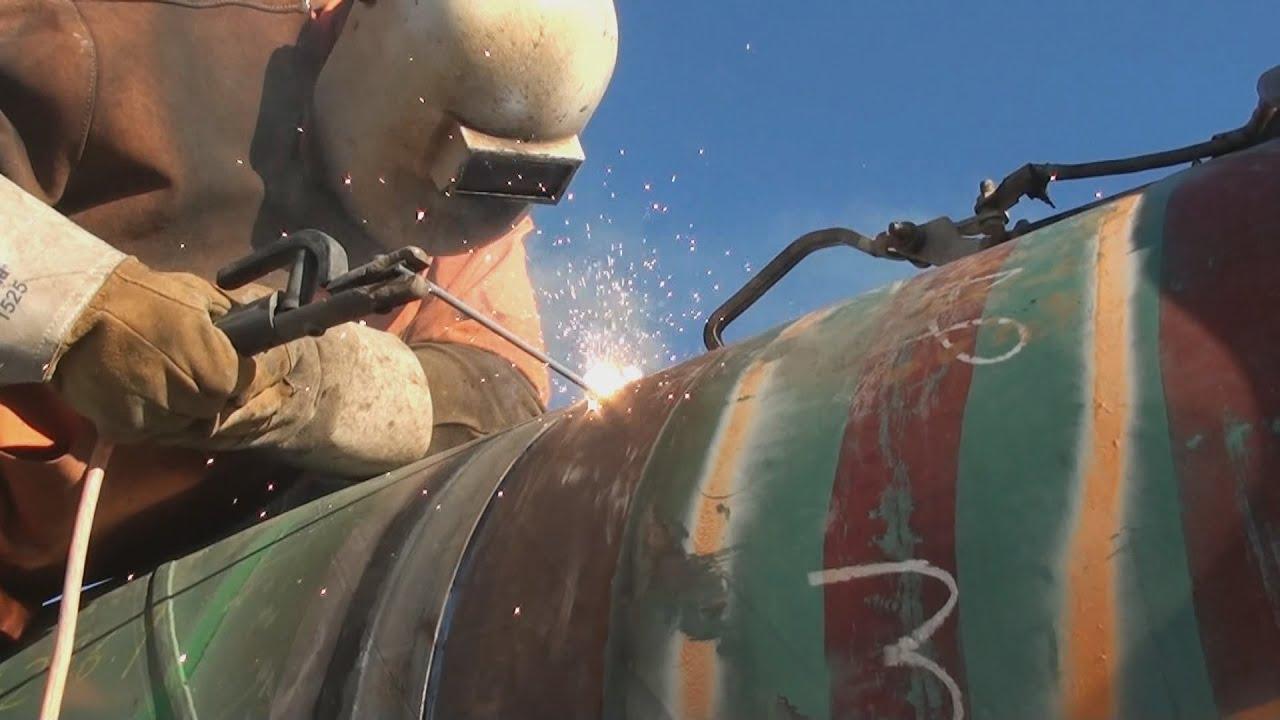 Pipeline Welding - Cold Morning Tie-In - YouTube