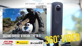 360 video suzuki sv650 costa brava spain ricoh theta s