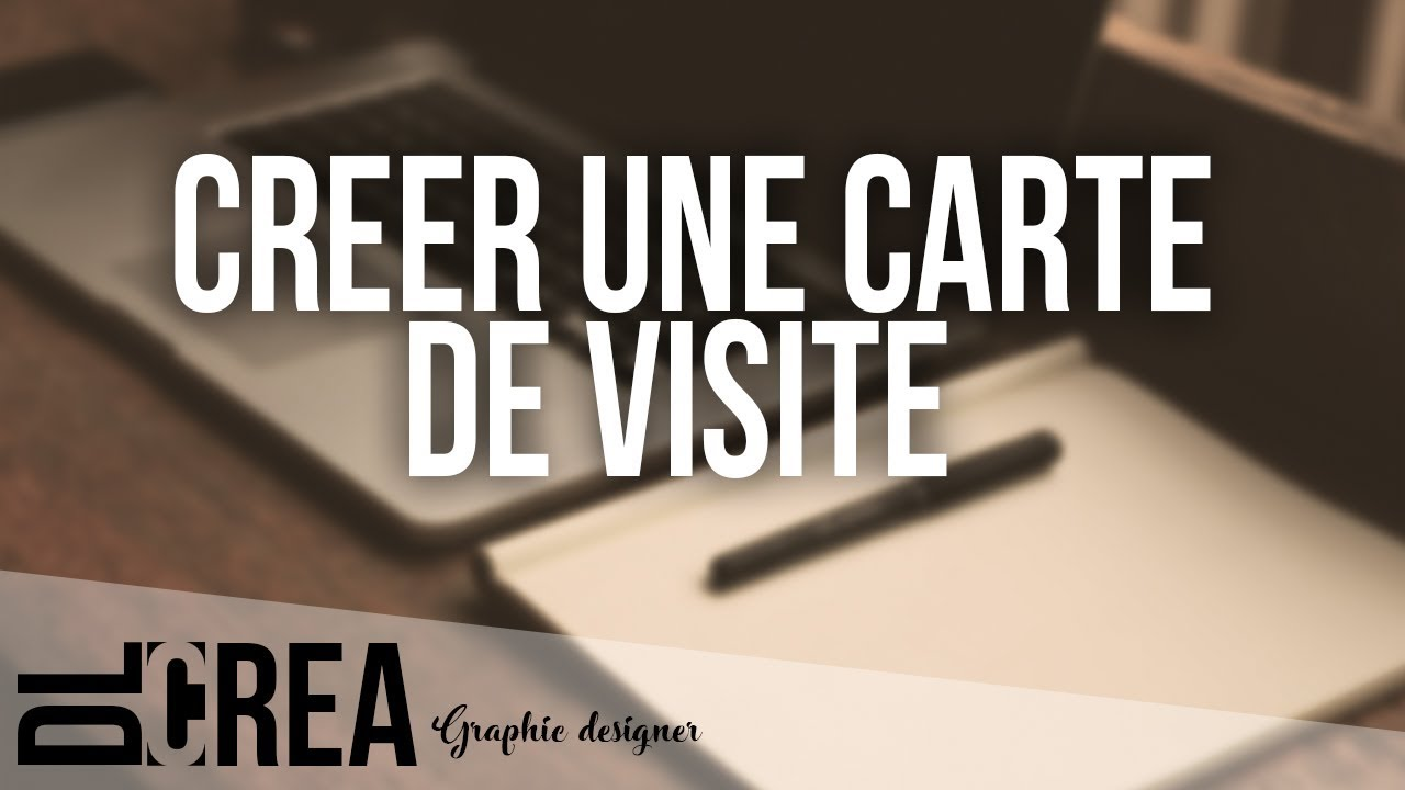 Creer Sa Carte De Visite Avec PHOTOSHOP TUTO FR