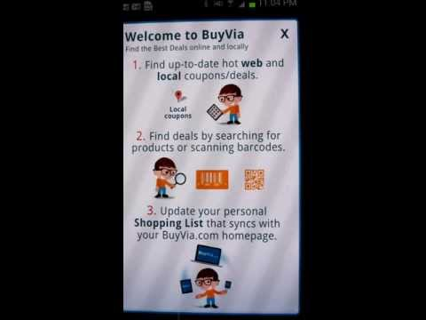 BuyVia Android Shopping App Features - Mobile Deals, Local, Online Coupons, Barcode Scanning, More
