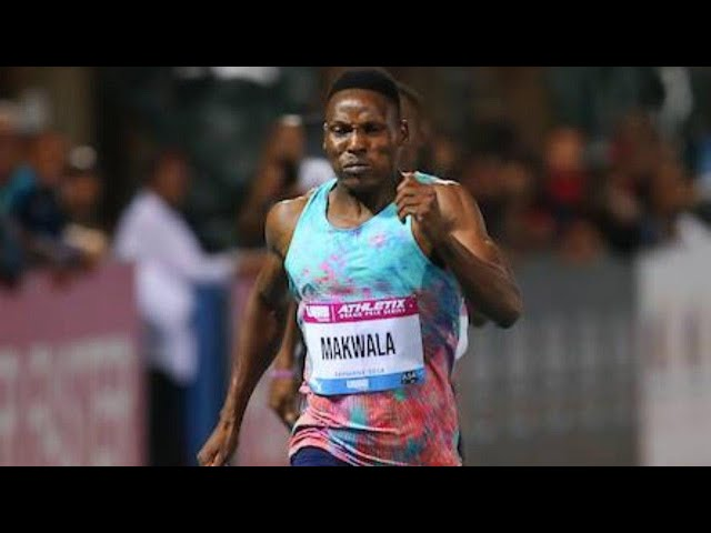 Isaac Makwala from Botswana takes the Men's 300m