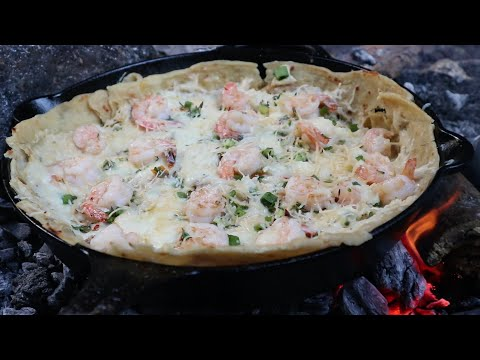 Shrimp and Roti Cast Iron Pizza | Jamaica Outdoor Cooking from YouTube · Duration:  18 minutes 1 seconds