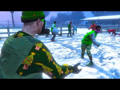 GTA 5 ONLINE - SNOWBALL FIGHT WITH SUBSCRIBERS