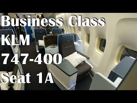 Flight Report AMS-JFK KLM Business Class 747-400 - SEAT 1A (Amsterdam to New York)