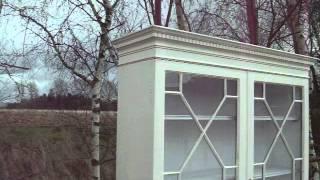 Vintage Painted Shabby Chic Astral Glazed Dresser