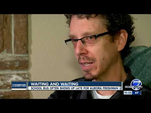 Cherry Creek School District parent says school bus delays are causing his son to miss class
