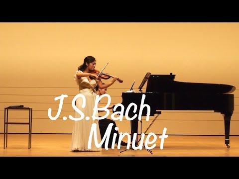 Kyoko Watanabe - J.S.Bach / Minuet in G major BWV Ahn.114 / Suzuki Methode