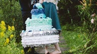 Как сделать нарядный торт пиньята,который украсит вашу свадьбу?