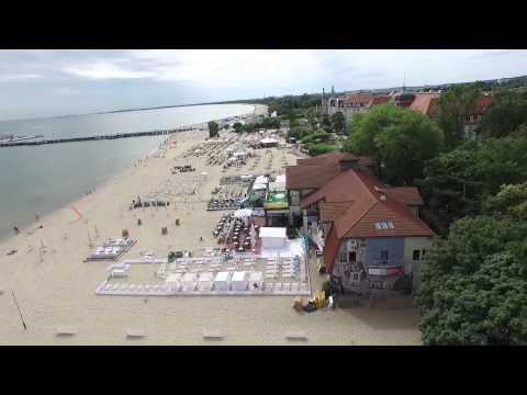 Sopot, Poland. Polska drone's video, HD, 1080p. Сопот, Польша