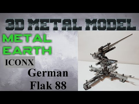 Metal Earth ICONX Build - German Flak 88