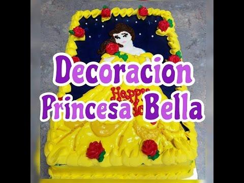 Decoracion Princesa Bella!!Aprende hacer esta tecnica en decorar los pasteles!!