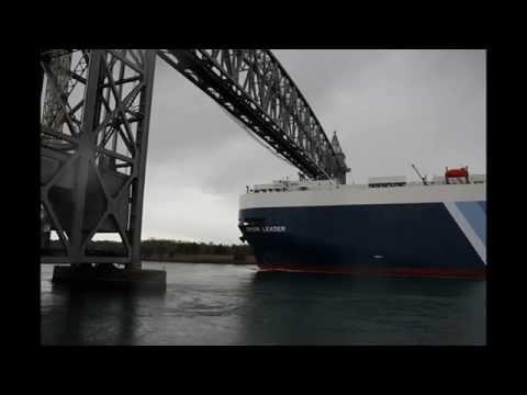 Cape Cod Canal Train Bridge VS NYK Line Super Tanker