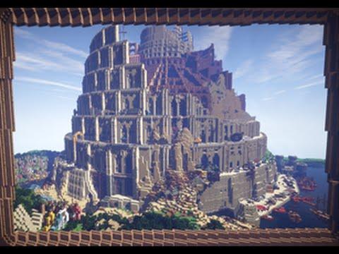 【minecraft】バベルの塔を再現してみた Tower of Babel