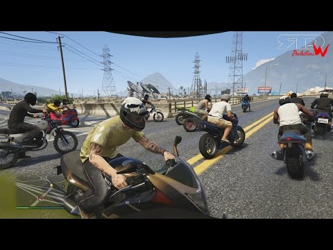 LowMedia's Ride Of The Century | GTAV Online HUGE Bike Meet - Ride & Stunting | Full Lobby Meet