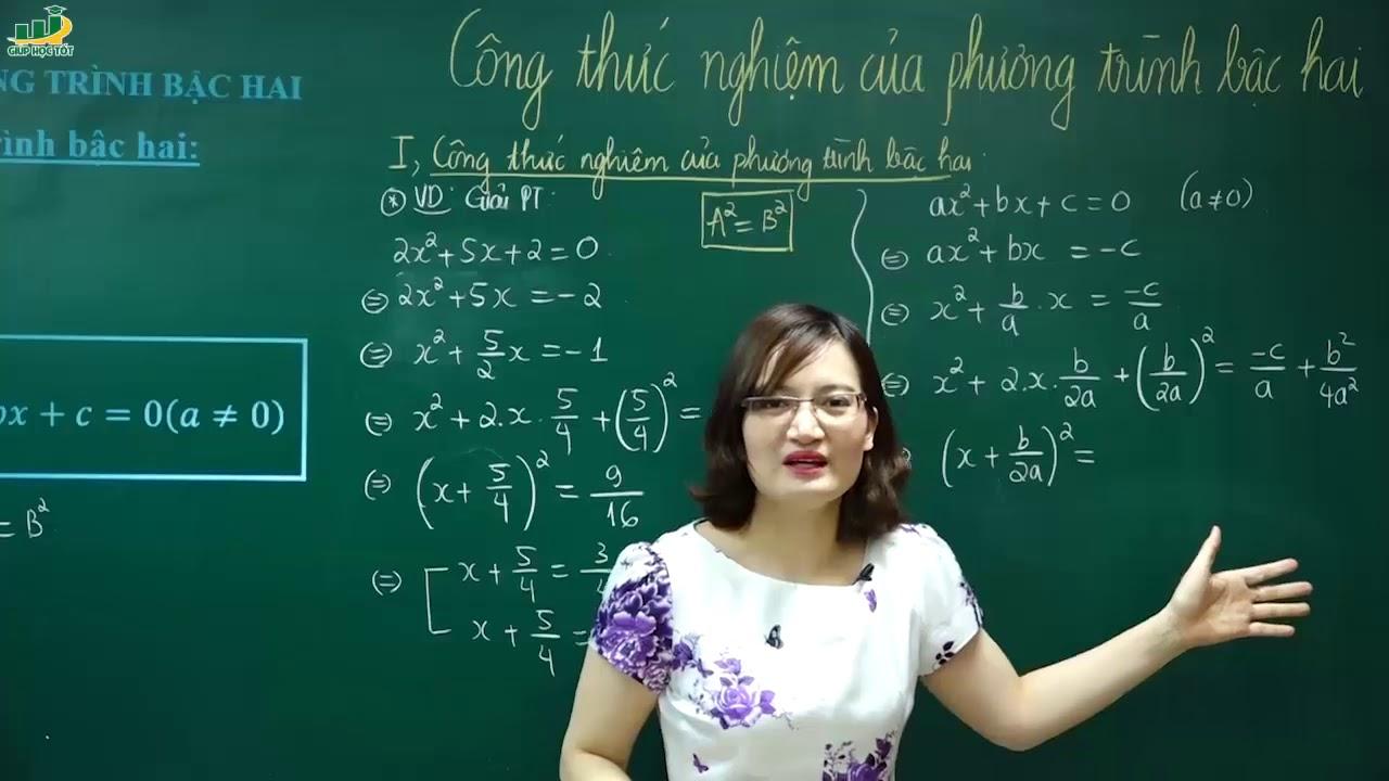 Toán lớp 9–Bài giảng Công thức nghiệm phương trình bậc hai|Công thức tính đen ta|TạThị Huyền Trang