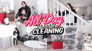 NEW ✨ALL DAY CLEAN & DECORATE WITH ME FOR CHRISTMAS 🎄2019