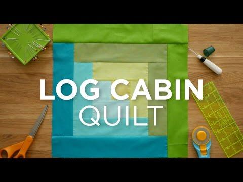 Make an Easy Log Cabin Quilt Block! Quilt Snips - YouTube : easy log cabin quilt - Adamdwight.com