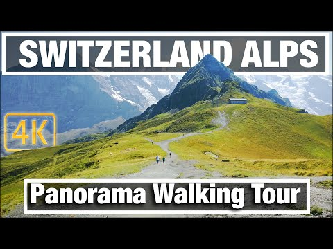 4K City Walks: Mannlichen Switzerland Mountains Virtual Walk Walking Treadmill Video