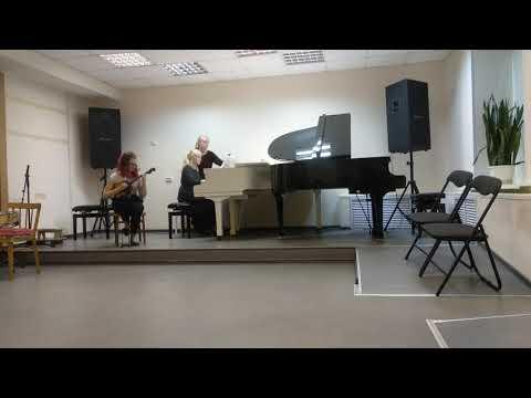 """Калина во ржи."" Домра и фортепиано. (Фортепиано Паршукова Ангелина, 14 лет)."