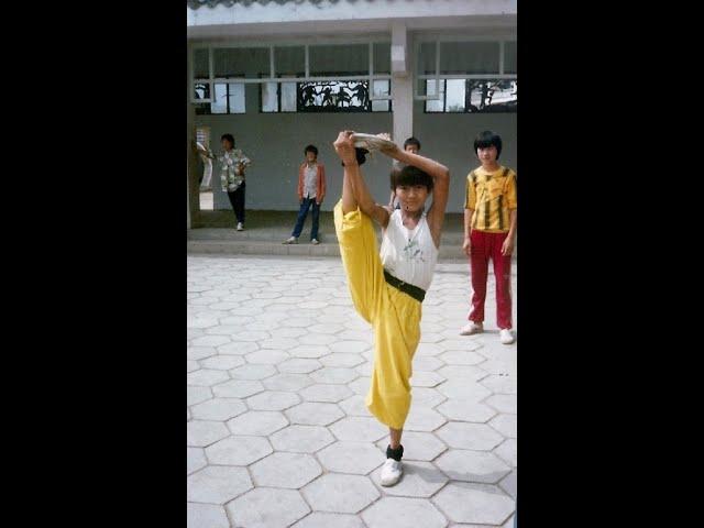 Training Shaolin KIDS in Wushu Center filmed Sifu Walter Toch 1989 China