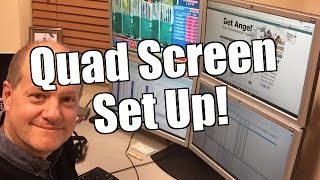 Betfair trading - Quad screen set up
