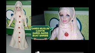 Membuat Gamis Cantik Garis Garis Buat Barbie