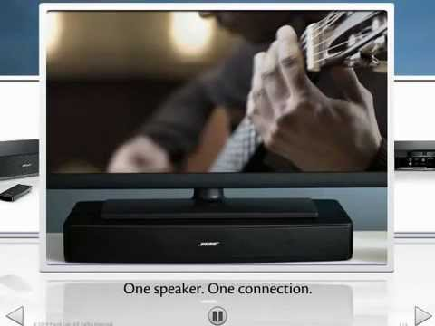 Bose Sound System >> Bose Soundlink Solo TV Wireless Surround Sound System - YouTube
