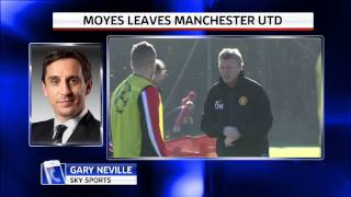 Gary Neville reacts to David Moyes