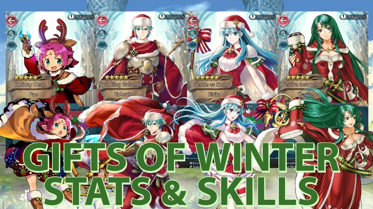 Fe Heroes Christmas.All I Want For Christmas Is Eirika Also Cecilia Fire Emblem Heroes Gifts Of Winter Stats Skills