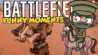 """Battlefield 1 """"FUNNY & EPIC MOMENTS"""" (Riding ..."""