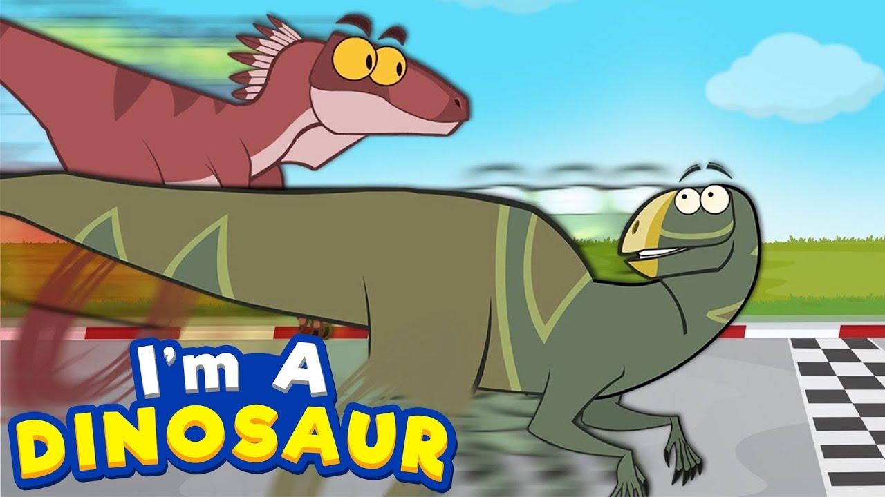 Dinosaur   The Fastest Dinosaurs   Velociraptor   Funny Dinosaur Cartoon For Kids