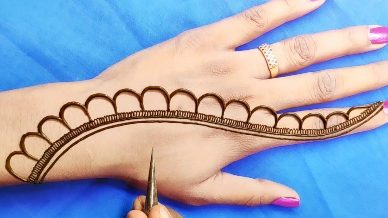 दशहरा/दिवाली स्पेशल मेहंदी डिजाइन||dashara/Diwali special mehandi||easy back hand Arabic mehndi