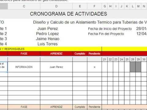 como elaborar un cronograma de actividades