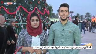بغداد تتزين بشجرة عيد ميلاد ضخمة