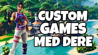 🔴 NORSK FORTNITE STREAM 💜 RANDOM DUO CUSTOMS WITH DERE 💗 JOIN 💗 USE CODE IDAMARIEYT