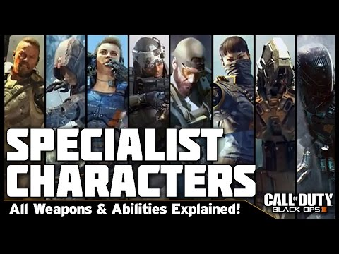 ALL KNOWN POWER WEAPONS & ABILITIES! | BO3 Specialist Character Overview (Black Ops 3)