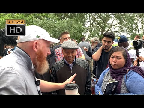 Argument Of What!? Hamza & Visitor Lady | Speakers Corner | Hyde Park
