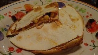 Quick And Easy Bean And Cheese Quesadilla